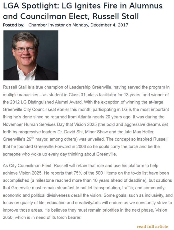 Russell Stall LGA spotlight prose communications